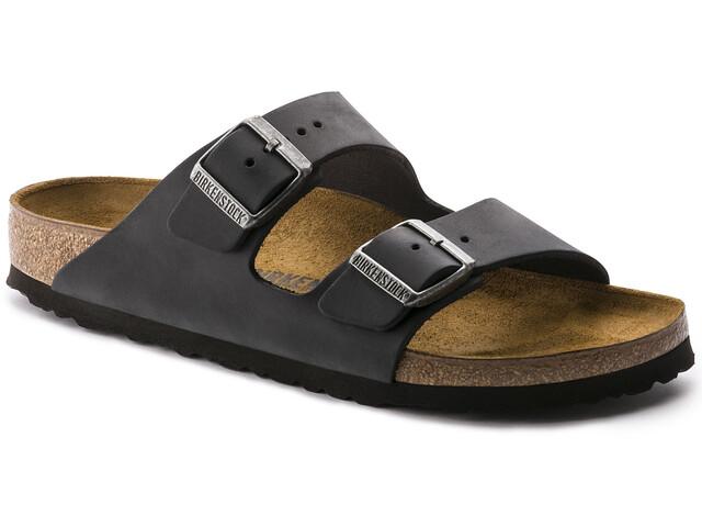 Birkenstock Arizona Sandals Oiled Leather black
